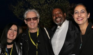 Raindance Filmmakers Party (l to r) : Suzanne Ballantyne (Head of Programming from Raindance), Elliot Grove (Raindance Founder), Zachary James Miller (Producer/Director from 2 Bulls on the Hill Production), Rebecca Whitlocke (Writer from Access Riviera)